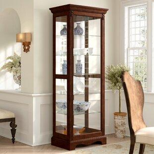 Astoria Grand Leafwood Lighted Curio Cabinet