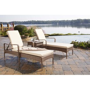 Key Biscayne Sun Lounger Set With Cushions And Table by Panama Jack Outdoor Sale