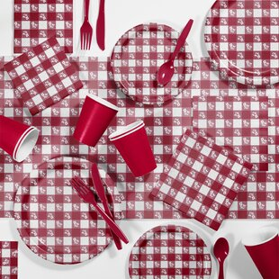 Gingham Picnic Tableware Set