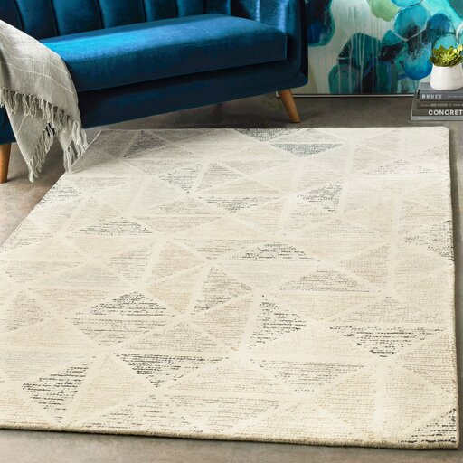 Madero Hand Tufted Charcoal Ivory Area Rug Amp Reviews