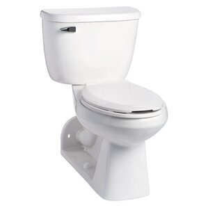QuantumOne Pressure Assist 1 GPF Elongated Two Piece ToiletRear Outlet Toilet   Wayfair. Two In One Toilet Seat. Home Design Ideas