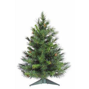 cheyenne 3 green artificial christmas tree with stand - Mini Artificial Christmas Trees