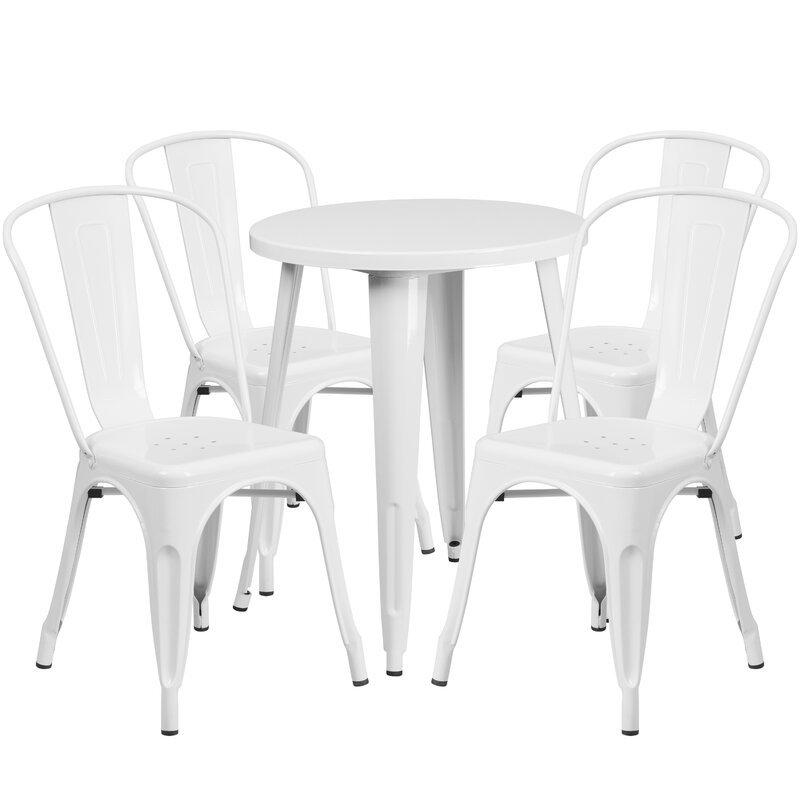 Aragon Round 4 - Person 35.25'' Long Dining Set