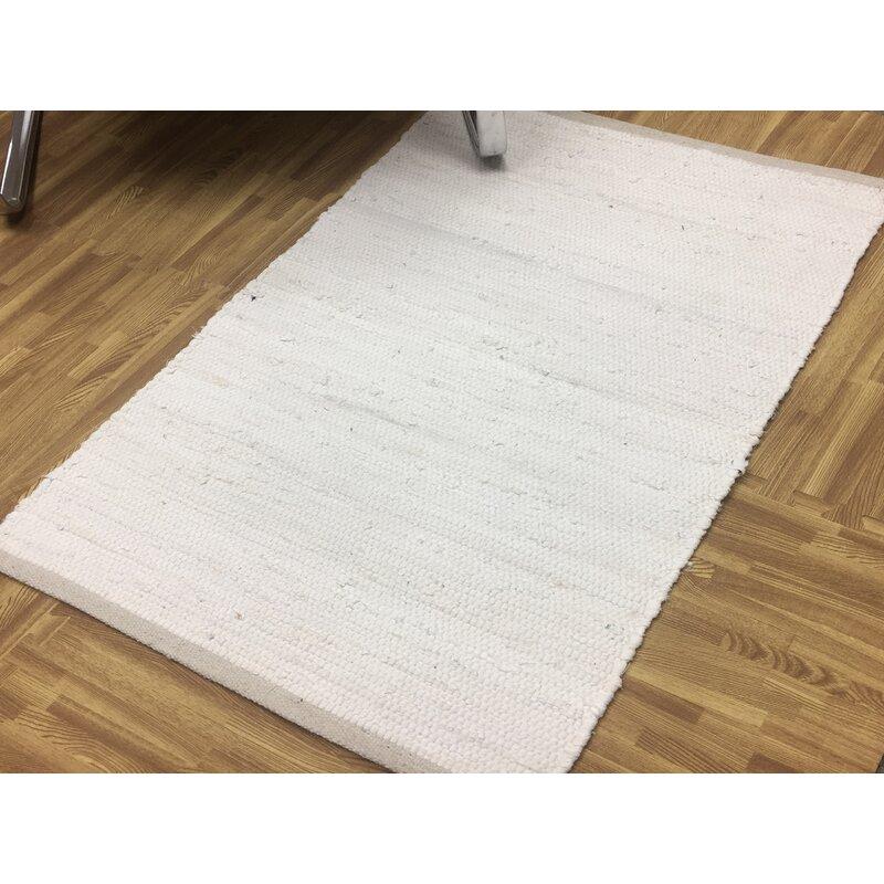 World Menagerie Steinmetz Handmade Power Loom Cotton Beige Rug Reviews Wayfair