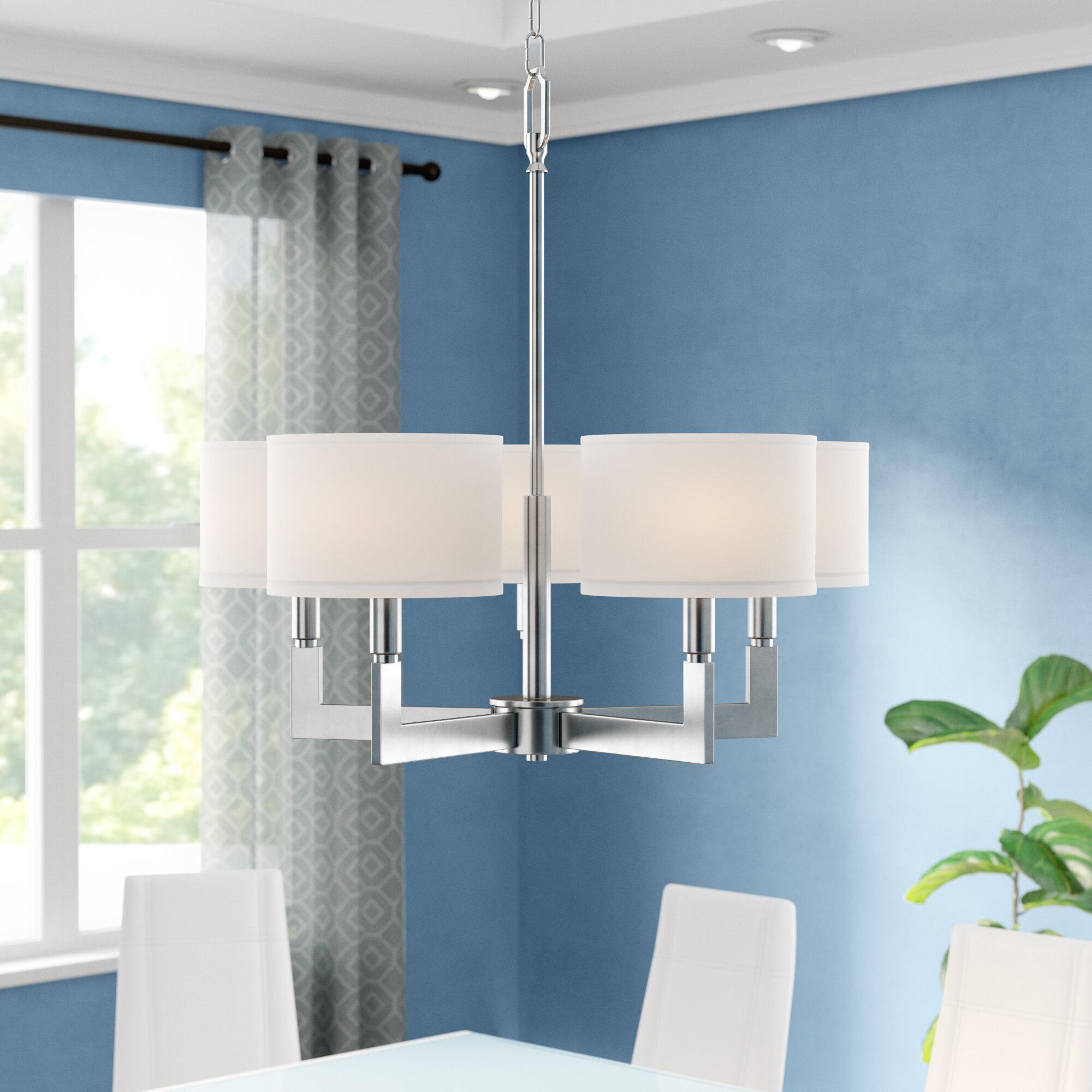 Zipcode design jerrod 5 light shaded chandelier reviews wayfair
