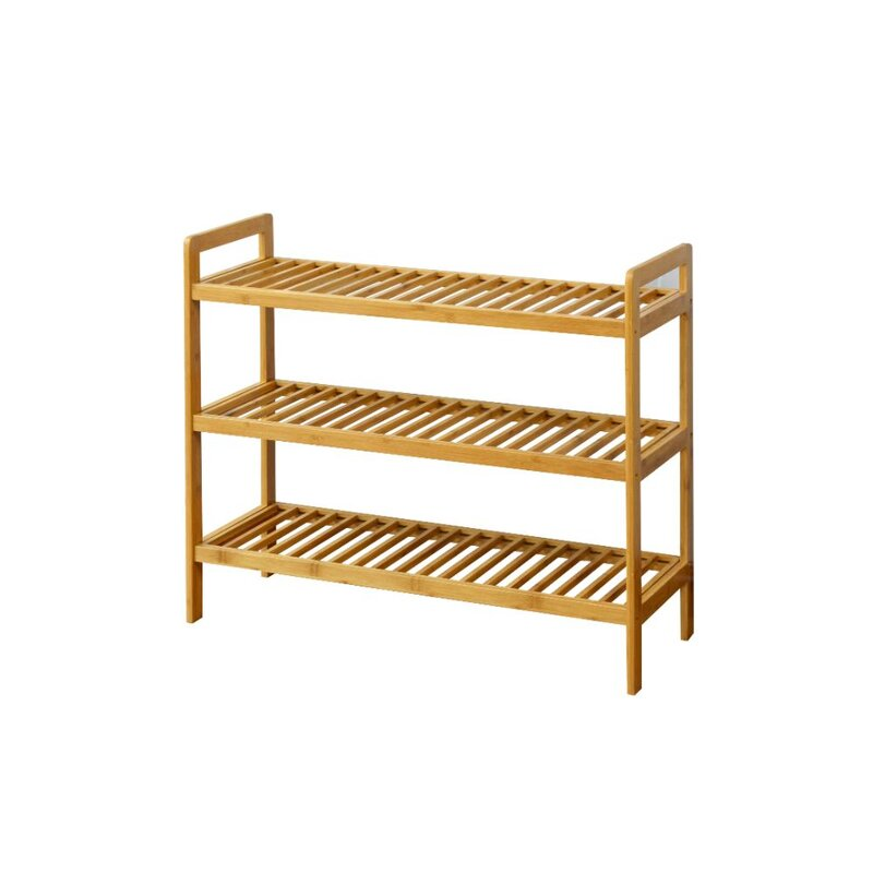 Shoes Rack Part - 50: Bamboo 3-Tier Shoes Rack
