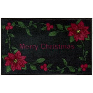 Savings Merry Christmas Black Area Rug ByThe Holiday Aisle