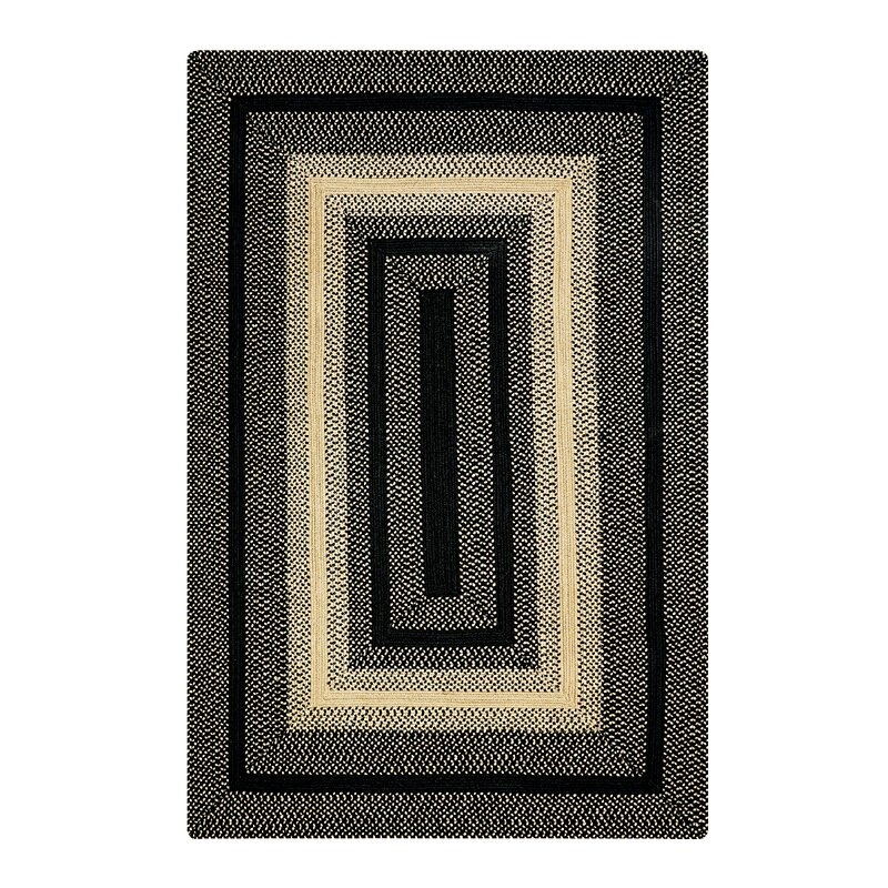 """Nevin Hand-Braided Blue/Green Indoor/Outdoor Area Rug Rug Size: Oval 2'3"""" x 3'0.75"""" -  August Grove"""