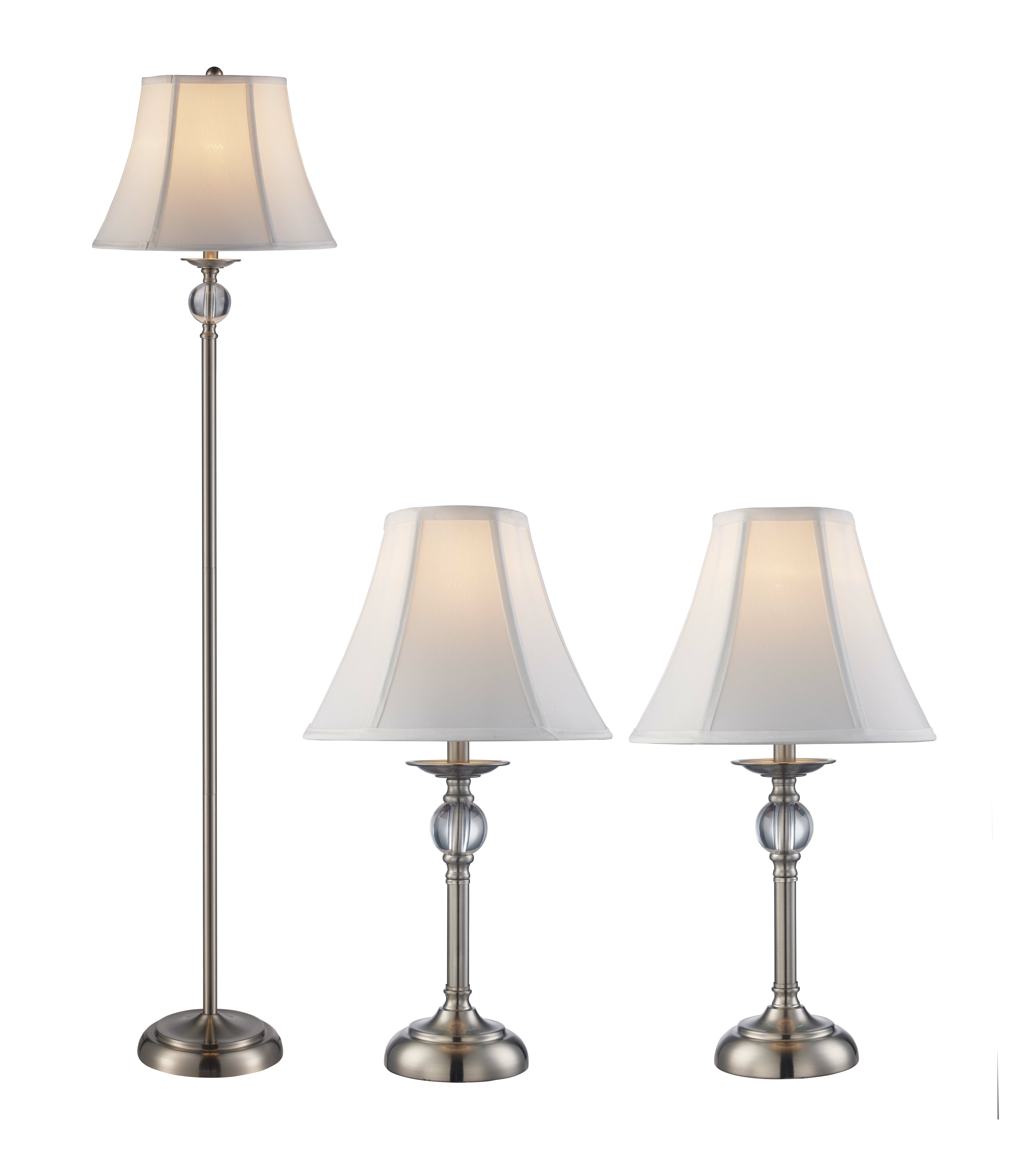 Astoria Grand Rahate 3 Piece Table And Floor Lamp Set Wayfair