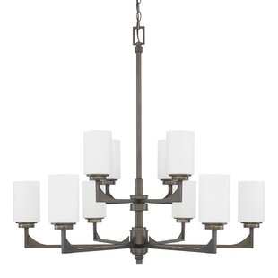Bowdoin 10-Light Shaded Chandelier by 17 Stories