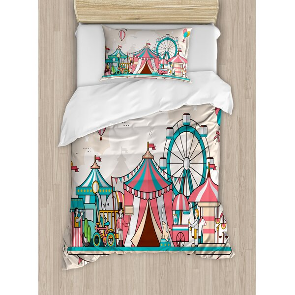 East Urban Home Circus Duvet Cover Set Wayfair