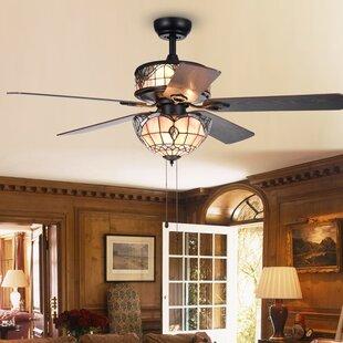 Chandelier ceiling fan combo wayfair 52 cerny baroque 5 blade ceiling fan aloadofball Images