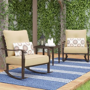 Charlton Home Centerville 3 Piece Conversation Set with Cushions
