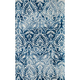Price comparison Lucy Hand-Hooked Blue/White Area Rug By Bungalow Rose
