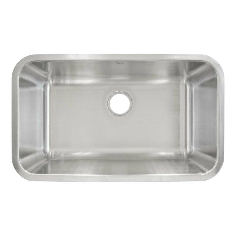 30 X 18 Undermount Single Bowl Kitchen Sink
