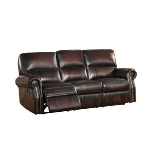 Nevada Leather Reclining Sofa by Amax