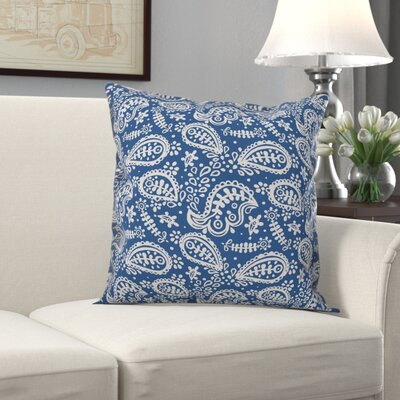 Artin Paisley Indoor/Outdoor Throw Pillow by Charlton Home Find