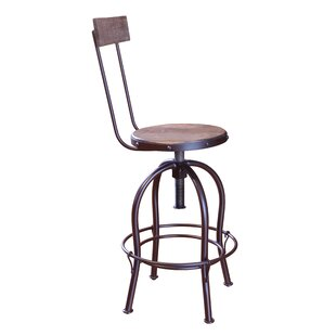 Guynn Adjustable Height Bar Stool (Set of 2) Williston Forge