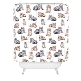 Wonder Forest Smitten Kittens Single Shower Curtain by East Urban Home New