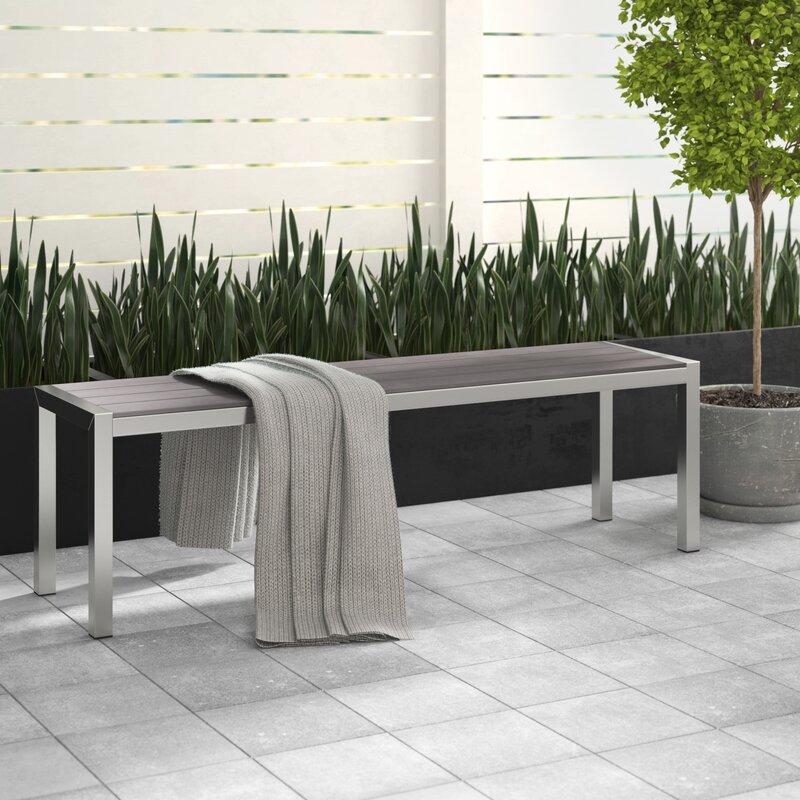 Brayden Studio Montiel Aluminum Picnic Bench