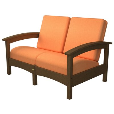 Rockport Club Deep Seating Sofa with Cushions Trex Outdoor Color: Tree House / Tangerine