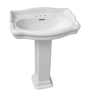 Stanford 550 Vitreous China 22 inch  Pedestal Bathroom Sink with Overflow