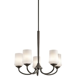 Red Barrel Studio Bergstrom 5-Light Shaded Chandelier