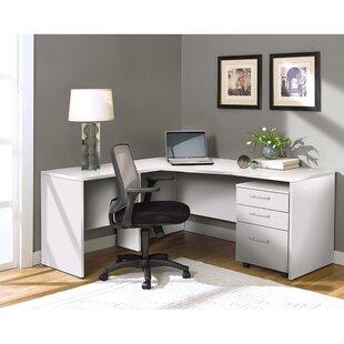 Latitude Run Buragate Desk, Desk Return and Filing Cabinet Set