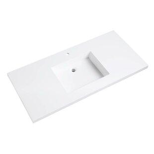 bathroom vanity top. VersaStone Solid Surface 49  Single Bathroom Vanity Top Tops You ll Love Wayfair