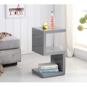 Cube Side Table With Storage