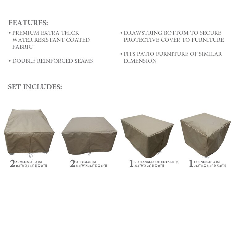 Sol 72 Outdoor™ Water Resistant 6 Piece Patio Furniture Cover Set