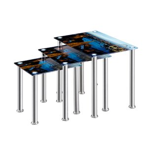 Neoma 3 Piece Nest Of Tables By Mercury Row