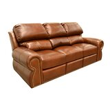 Cordova Reclining 91 Round Arm Sofa Bed by Omnia Leather