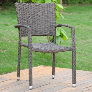 Yonkers Stacking Patio Dining Chair (Set of 4) (Set of 4)