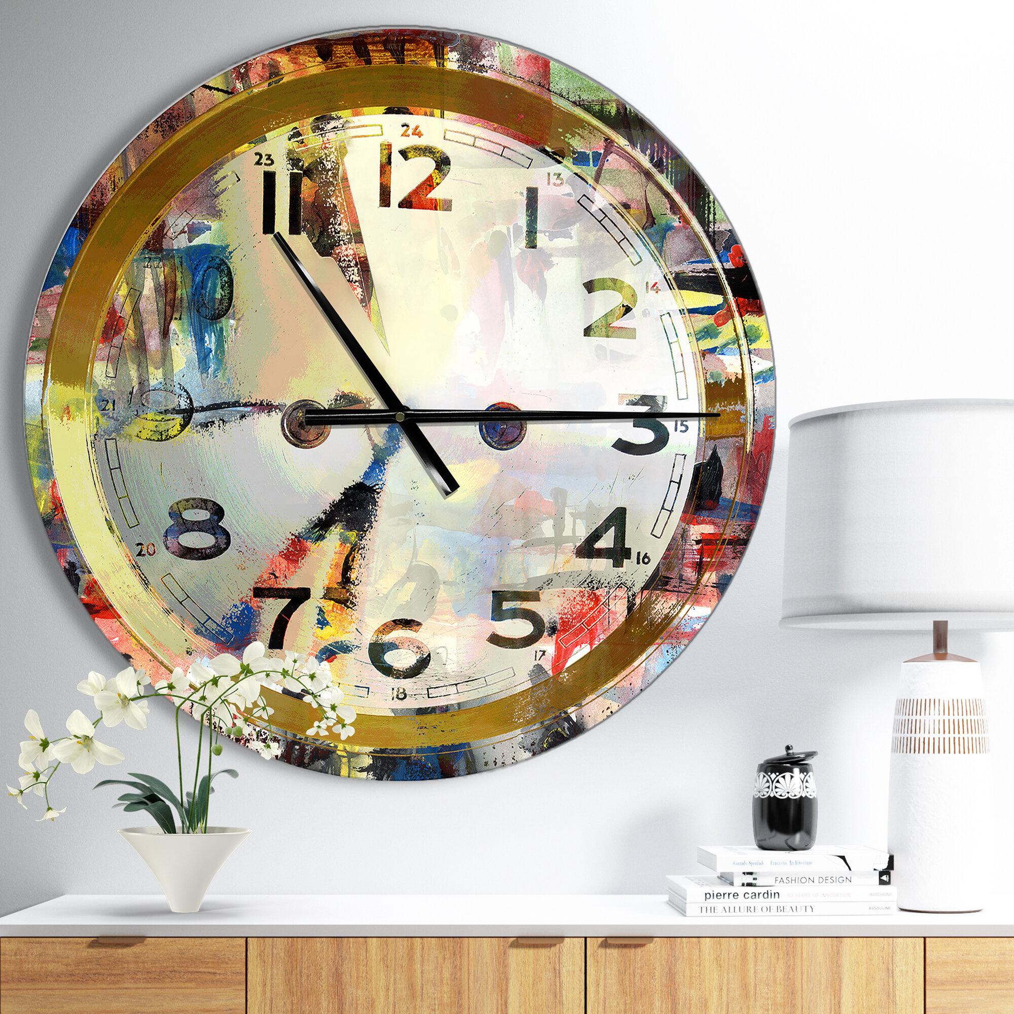 Ivy Bronx Oversized Wall Clock Reviews Wayfair