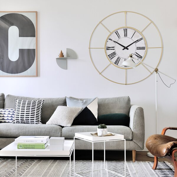 Living Room Wall Clocks Wayfair