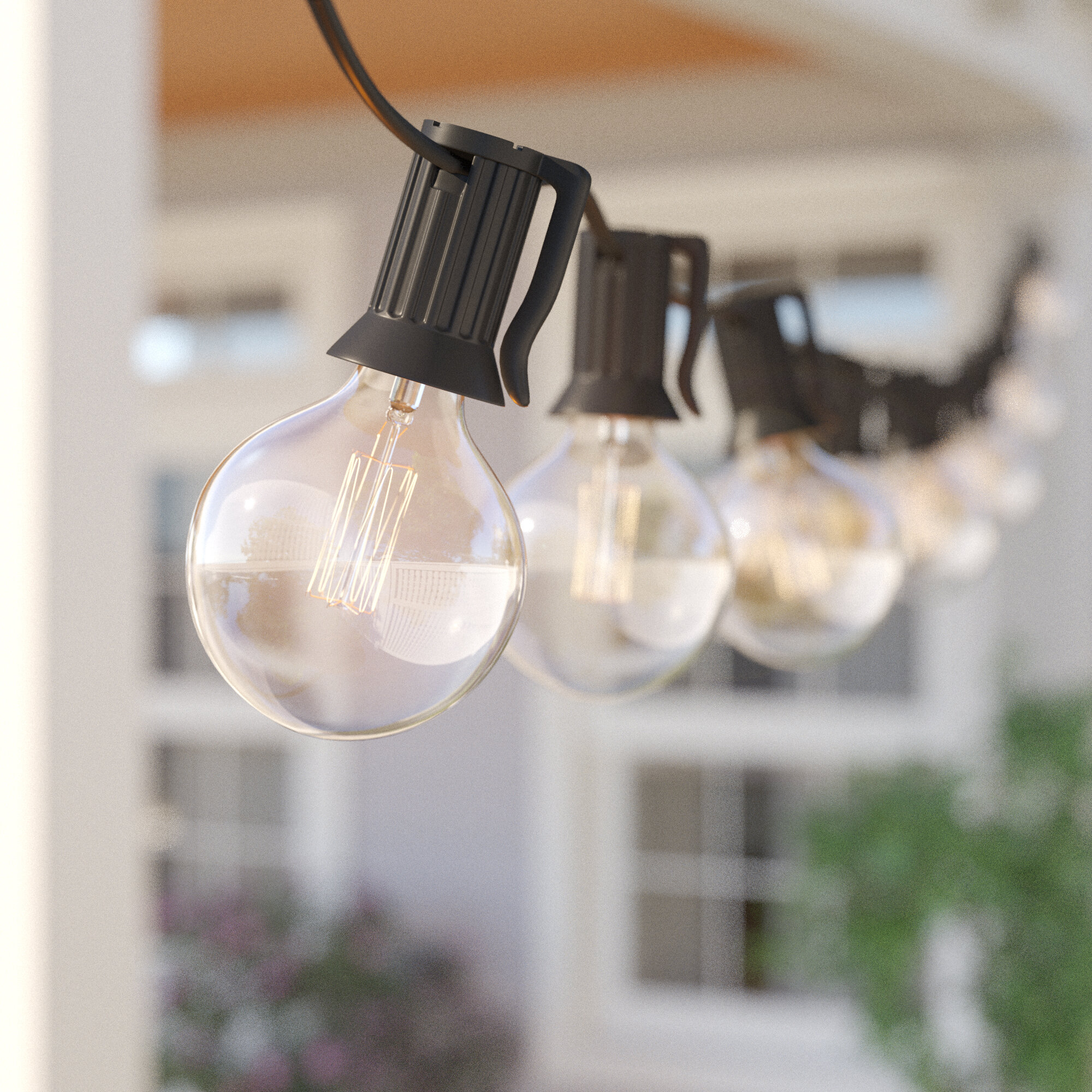 Sol 72 Outdoor Bachmann 100 Outdoor 100 Bulb Globe String Light Reviews Wayfair