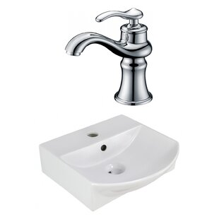 Clearance Ceramic 13.75 Bathroom Sink with Faucet and Overflow By Royal Purple Bath Kitchen