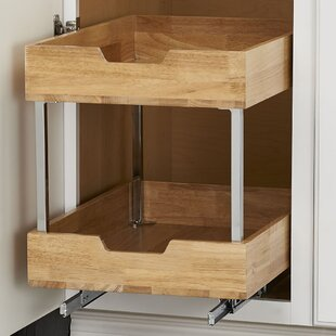 Rebrilliant 2 Tier Wood Pull Out Pantry