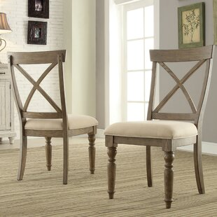 Mckenzie Solid Wood Dining Chair (Set of 2) August Grove