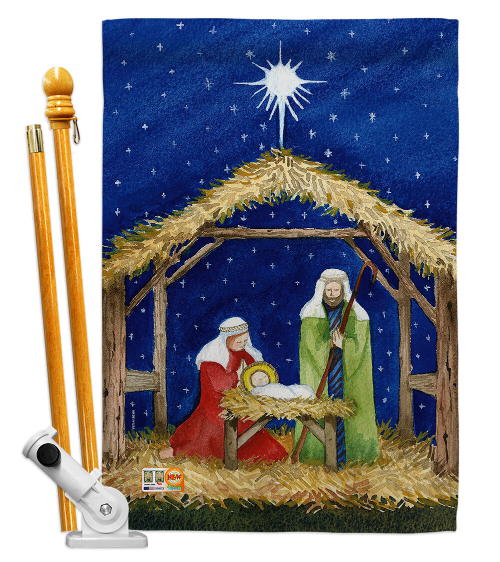 Breeze Decor Nativity Of Jesus Impressions Decorative 2 Sided Polyester 40 X 28 In Flag Set Wayfair