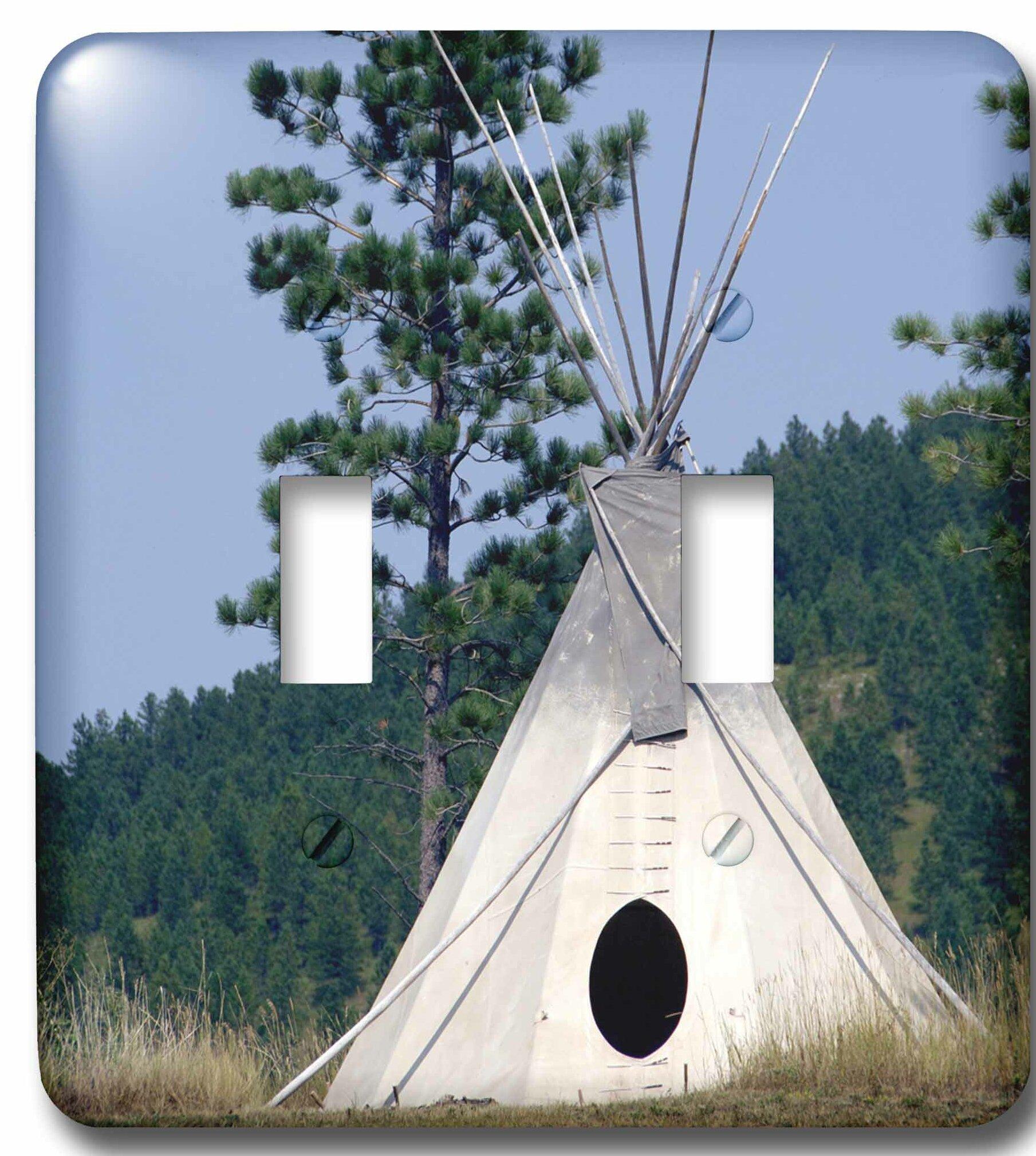 3drose Sd Lakota Indian Teepee Native American 2 Gang Toggle Light Switch Wall Plate Wayfair