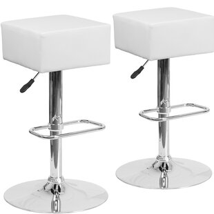Norcross Adjustable Height Swivel Bar Stool (Set of 2)