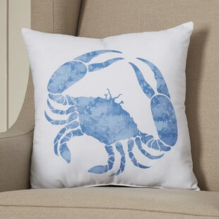 Jacque Crab Throw Pillow