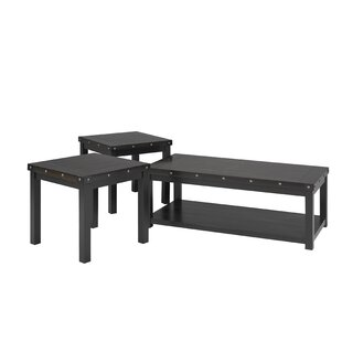 Gracie Oaks Charandeep 3 Piece Coffee Table Set