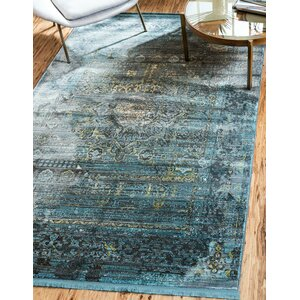 Lonerock Gray/Teal Area Rug