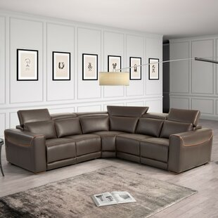 Reviews Coalpit Heath Leather Reclining Sectional by Orren Ellis Reviews (2019) & Buyer's Guide