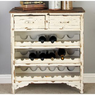 Edgecomb Wood 2 Drawer Wine Cabinet by Be..