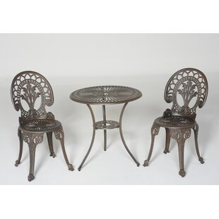 Royal Crown 3 Piece Bistro Set by Meadow Decor