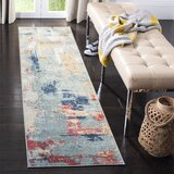 Muro Grey/Red Area Rug byWilliston Forge